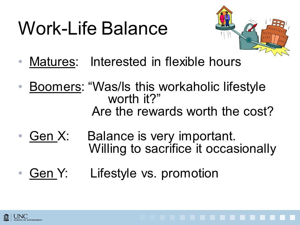Work-Life Balance Matures: Interested in flexible hours