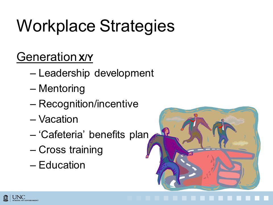 Workplace Strategies Generation X/Y Leadership development Mentoring