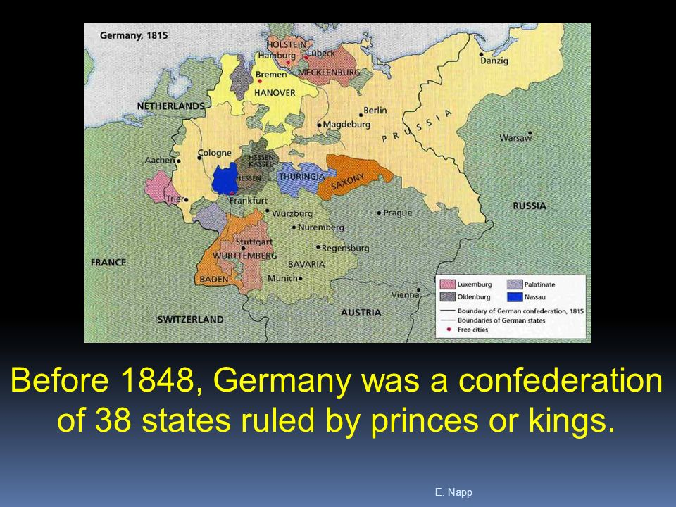 germany before 1848 In this lesson, we explore the unification of germany in the 1860s and 1870s, largely accomplished through the statecraft of the chancellor of.
