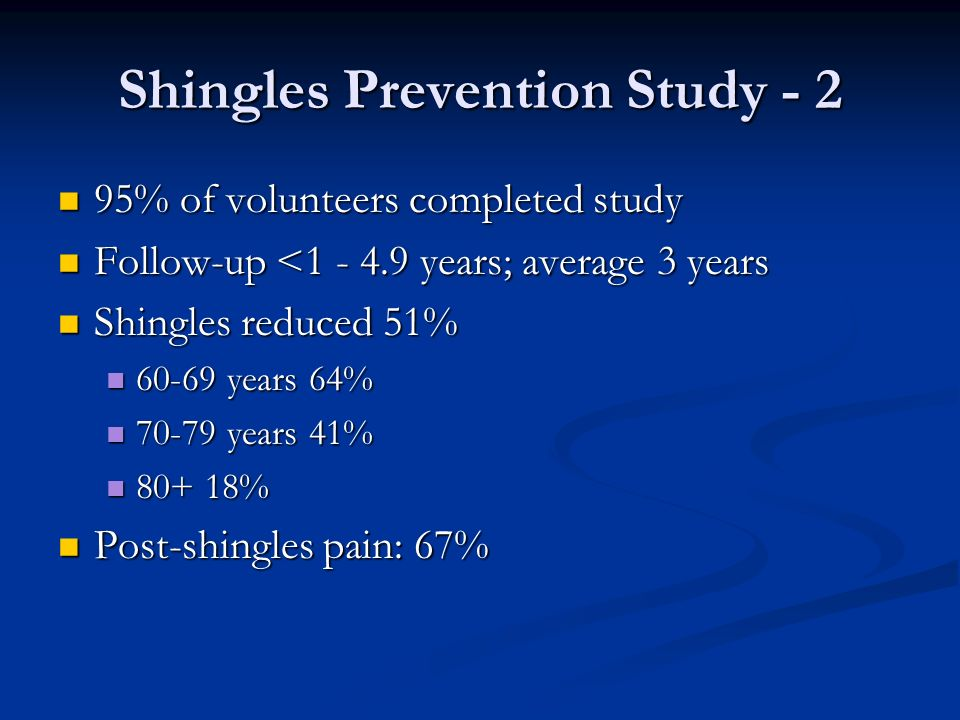Shingles Prevention Study - 2