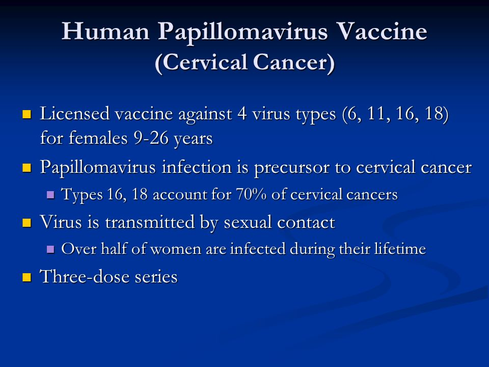 Human Papillomavirus Vaccine (Cervical Cancer)