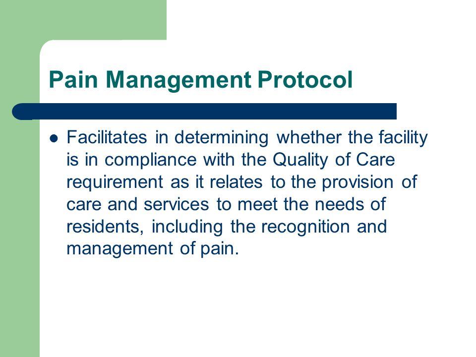 Pain Management Protocol