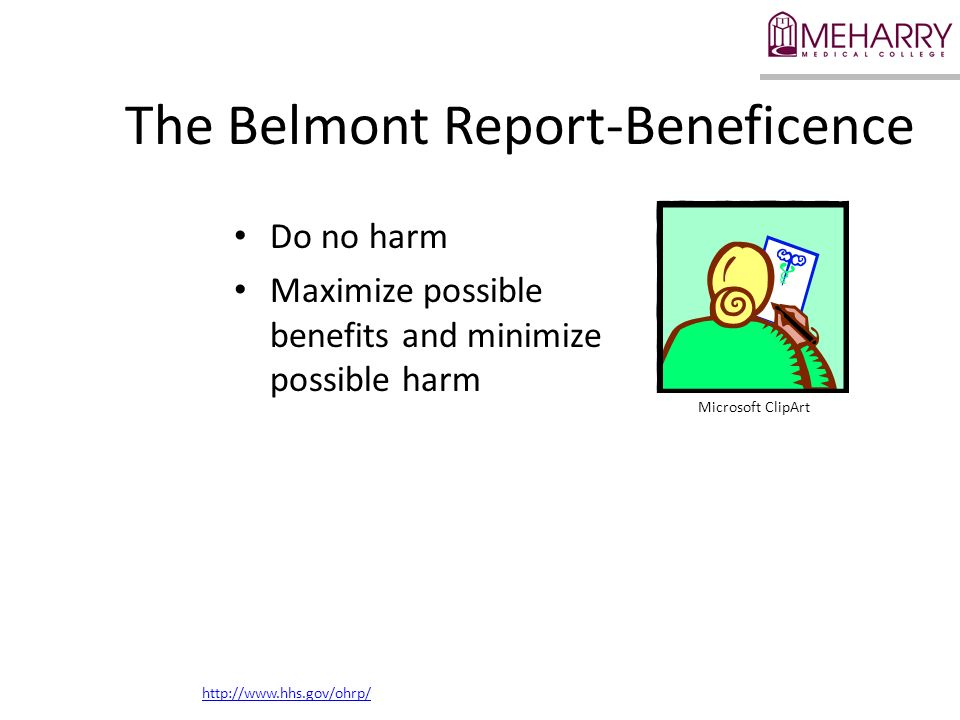 The Belmont Report-Beneficence