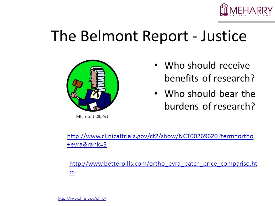 The Belmont Report - Justice