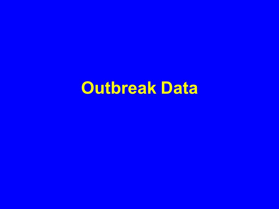 Outbreak Data