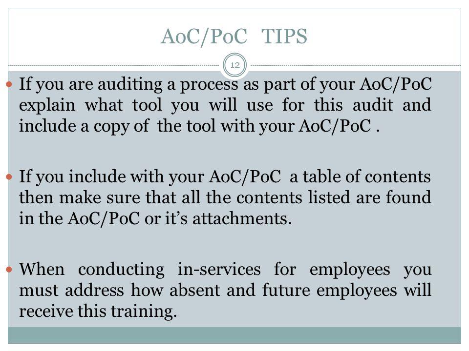 AoC/PoC TIPS
