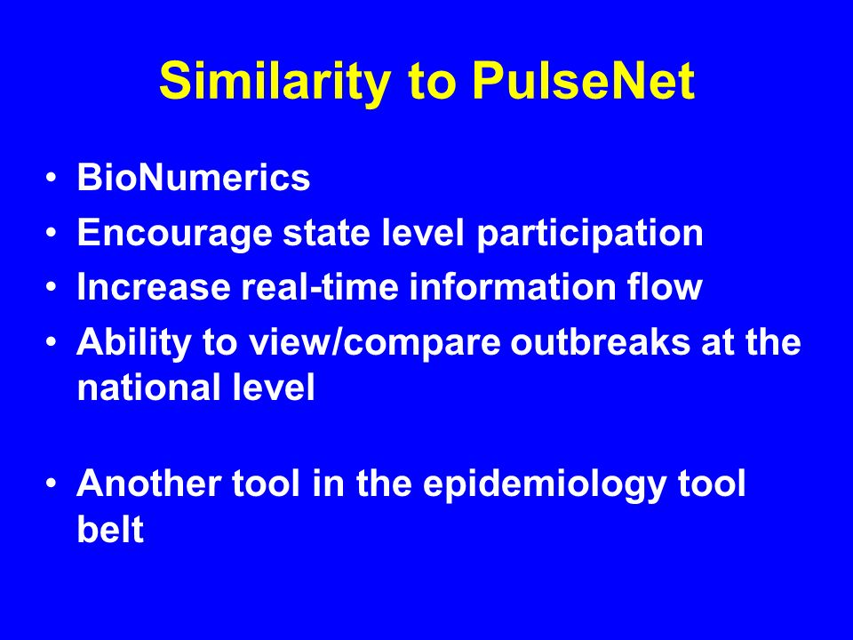 Similarity to PulseNet