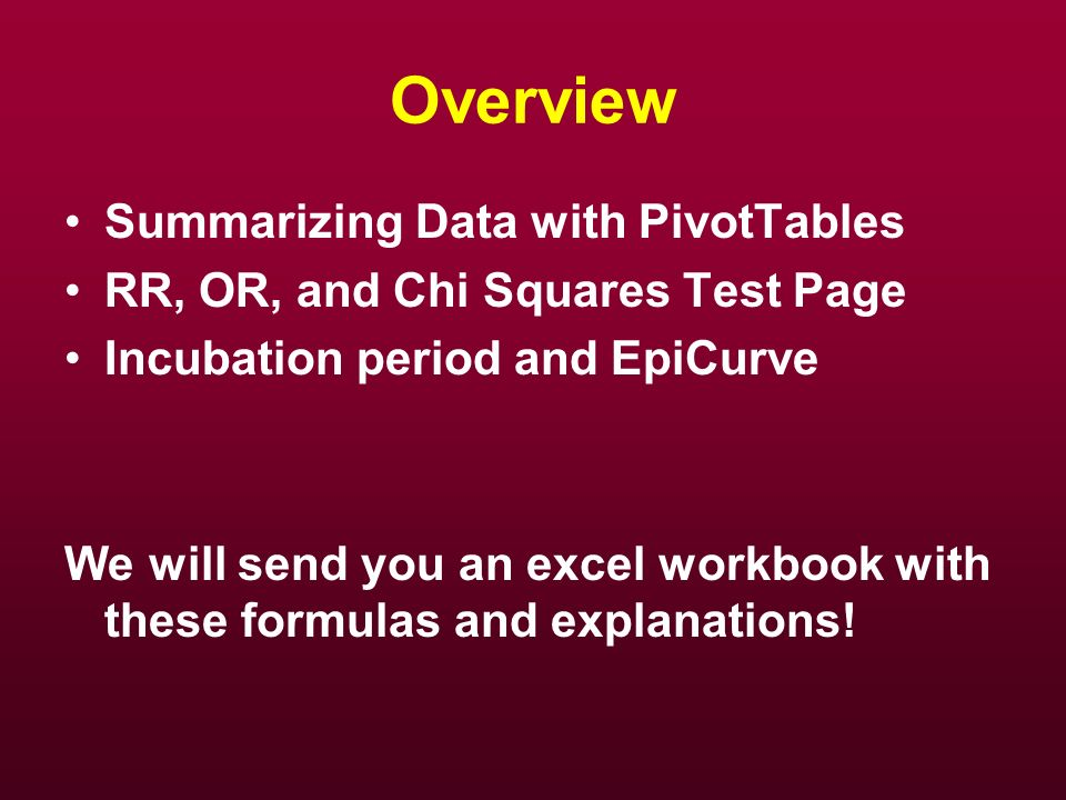 Overview Summarizing Data with PivotTables