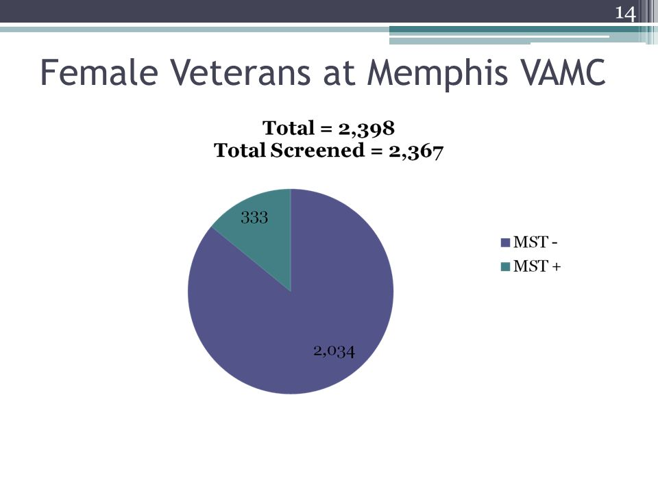 Female Veterans at Memphis VAMC