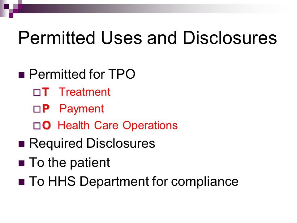 Permitted Uses and Disclosures