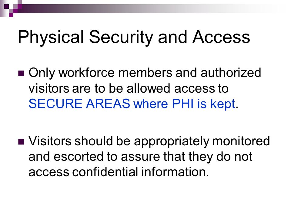 Physical Security and Access