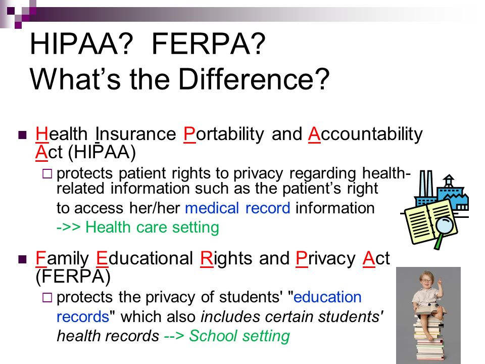 HIPAA FERPA What's the Difference