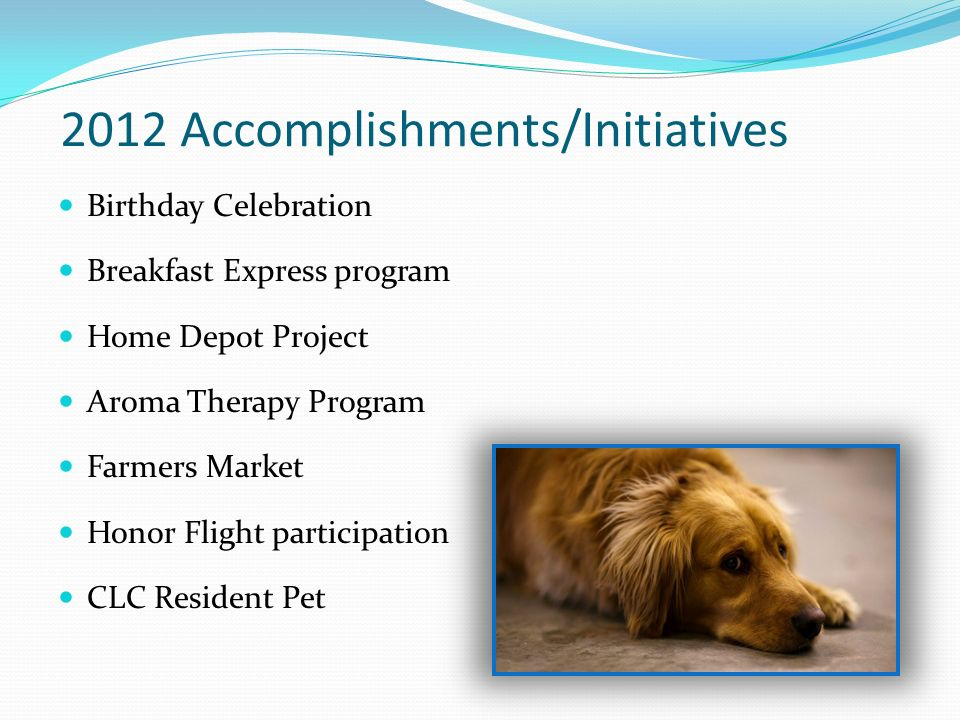2012 Accomplishments/Initiatives