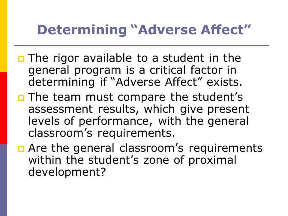 Determining Adverse Affect