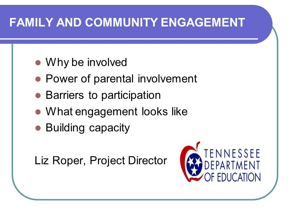 FAMILY AND COMMUNITY ENGAGEMENT