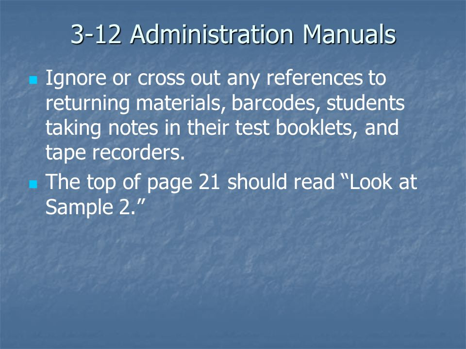 3-12 Administration Manuals