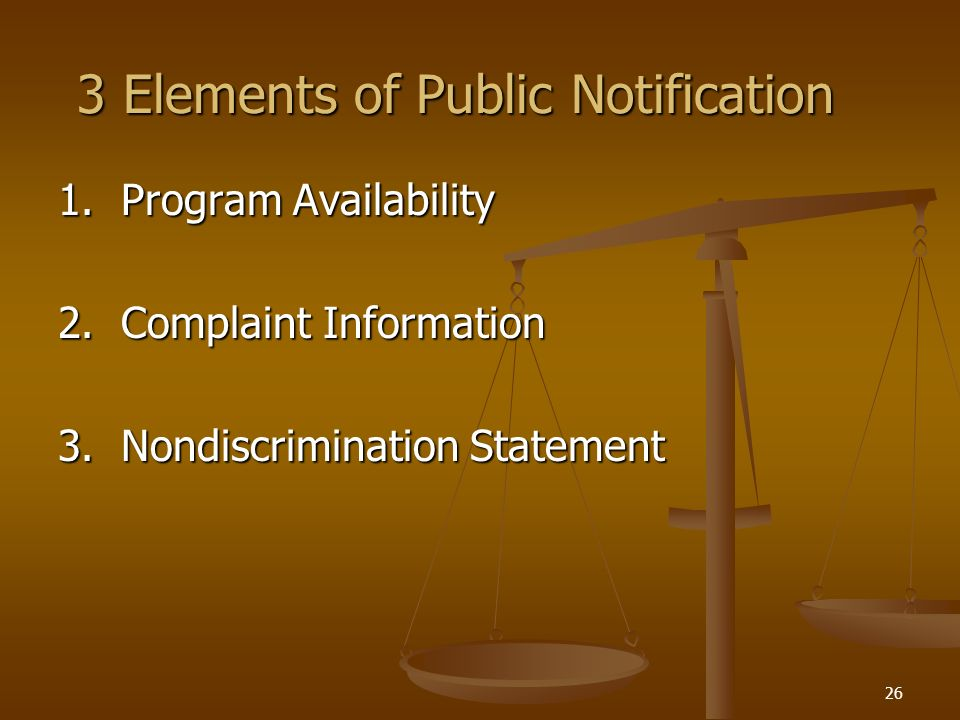 3 Elements of Public Notification