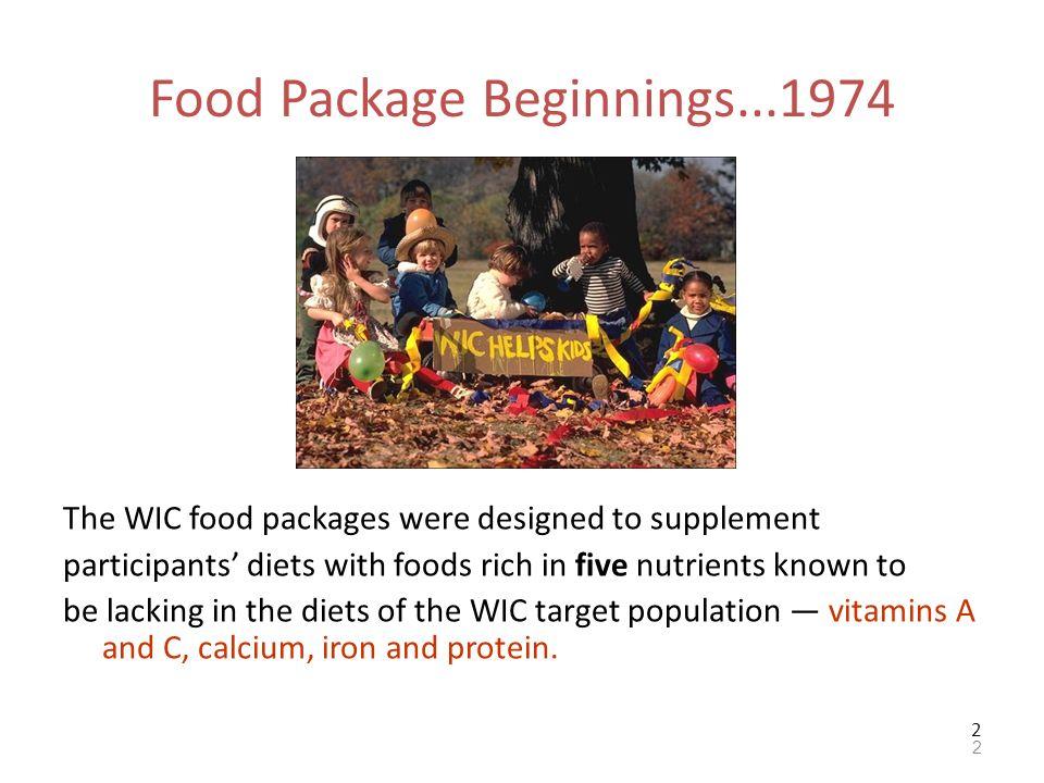 Food Package Beginnings...1974