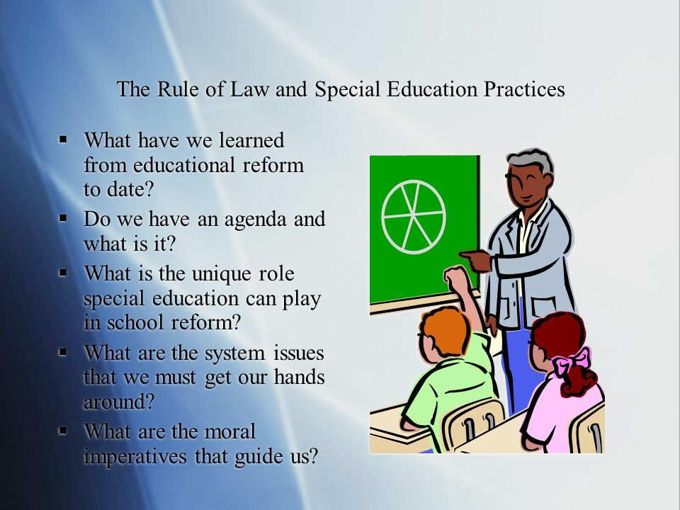 The Rule of Law and Special Education Practices