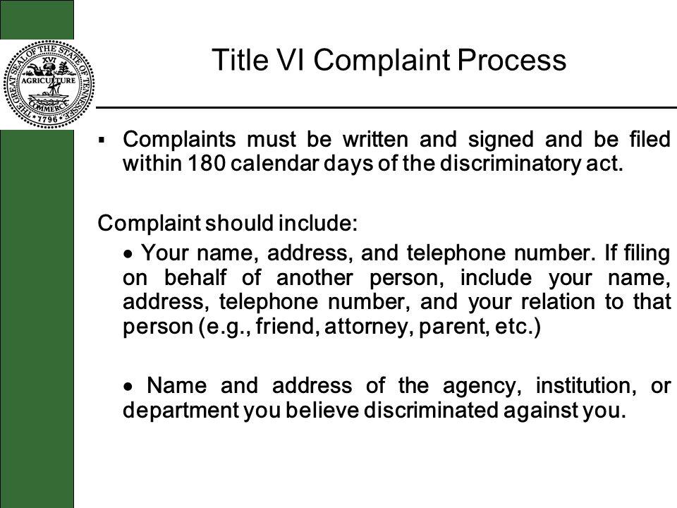 Title VI Complaint Process