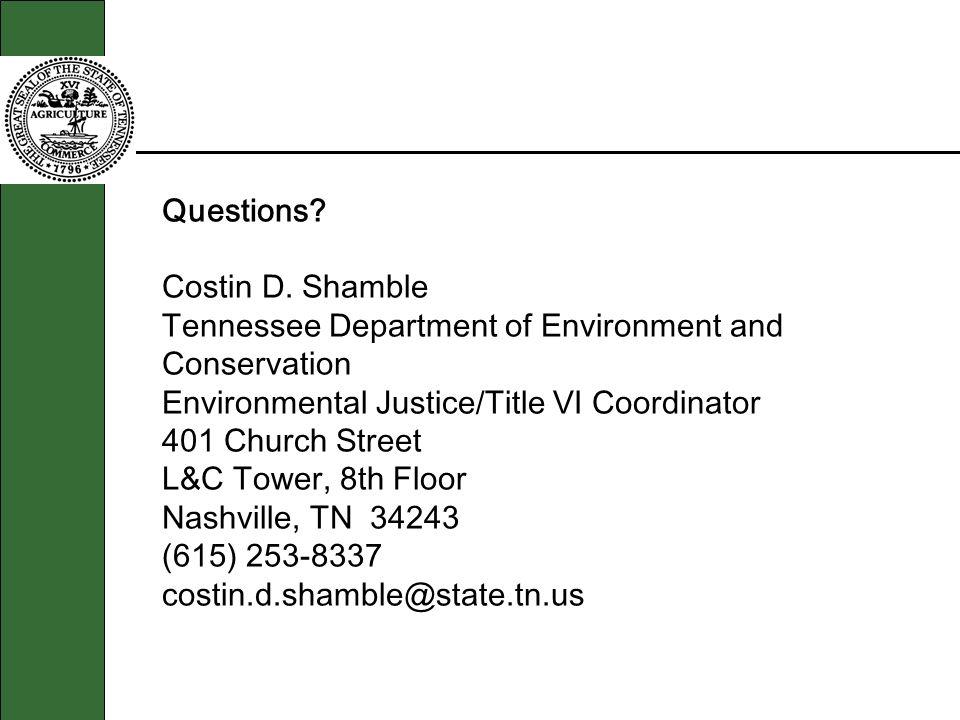 Questions. Costin D.