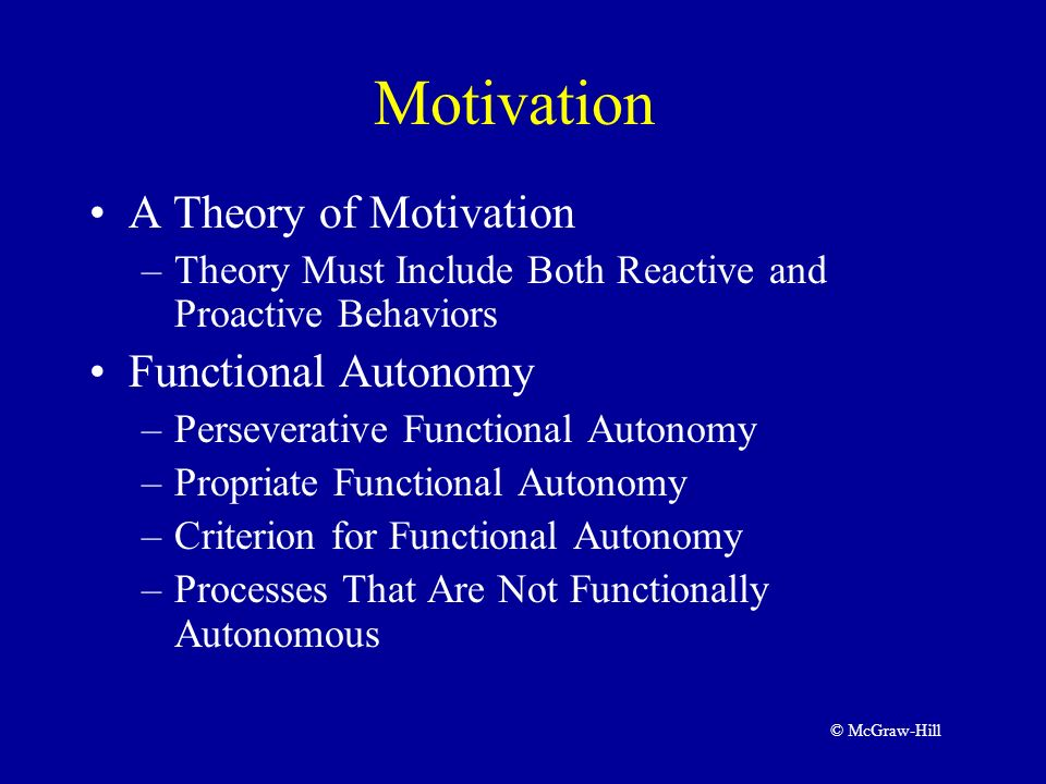 allports motivation functional autonomy and study of the individual essay Gordon allport essay an indication that the motivation of an individual occurs independently from his psychological maturity and functional autonomy.