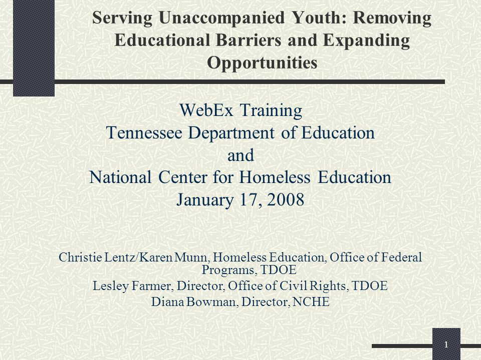 Tennessee Department of Education and