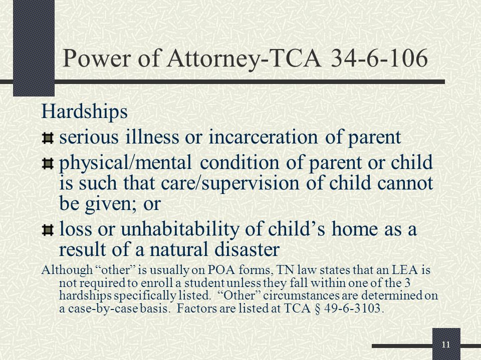 Power of Attorney-TCA 34-6-106