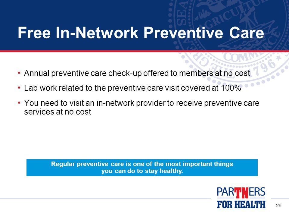 Free In-Network Preventive Care