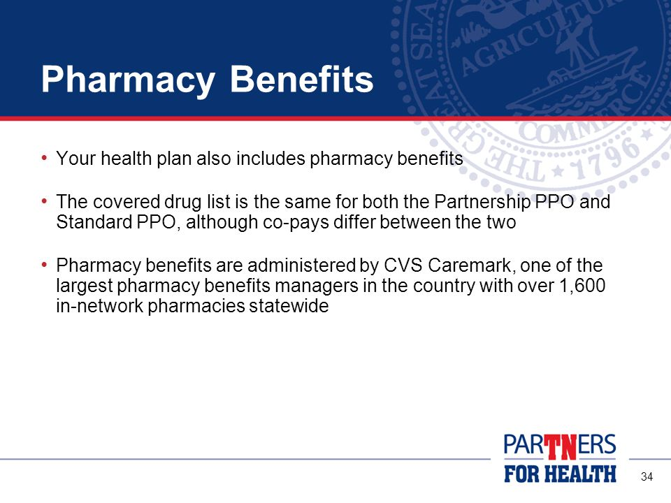 Pharmacy Benefits Your health plan also includes pharmacy benefits