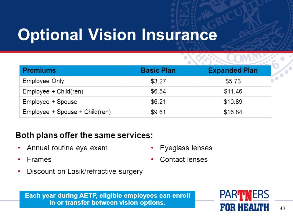 Optional Vision Insurance