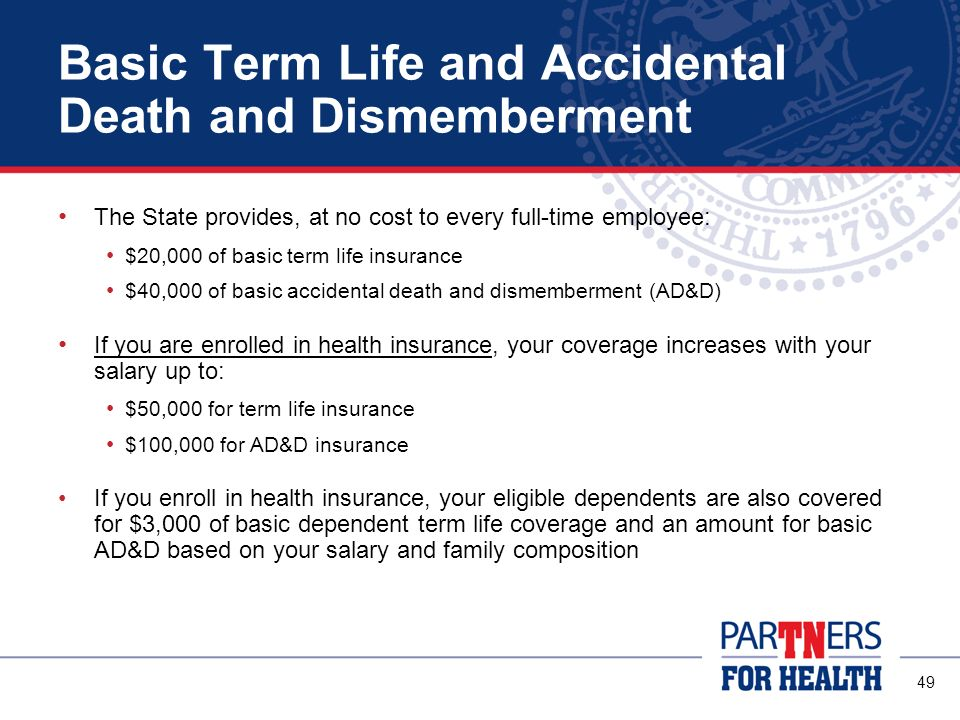 Basic Term Life and Accidental Death and Dismemberment