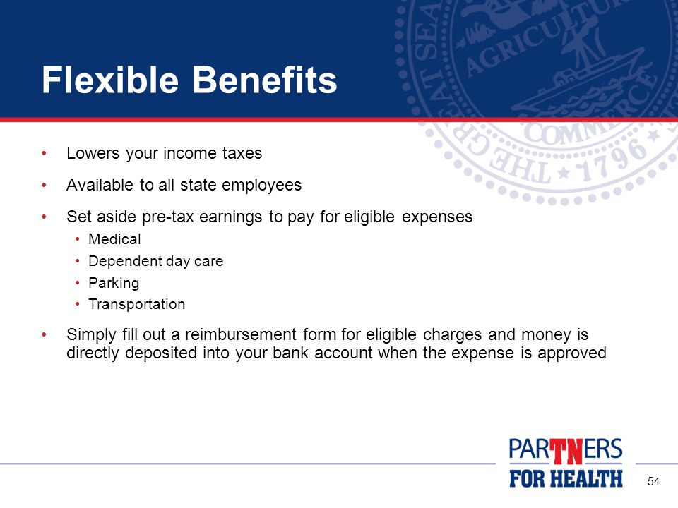 Flexible Benefits Lowers your income taxes