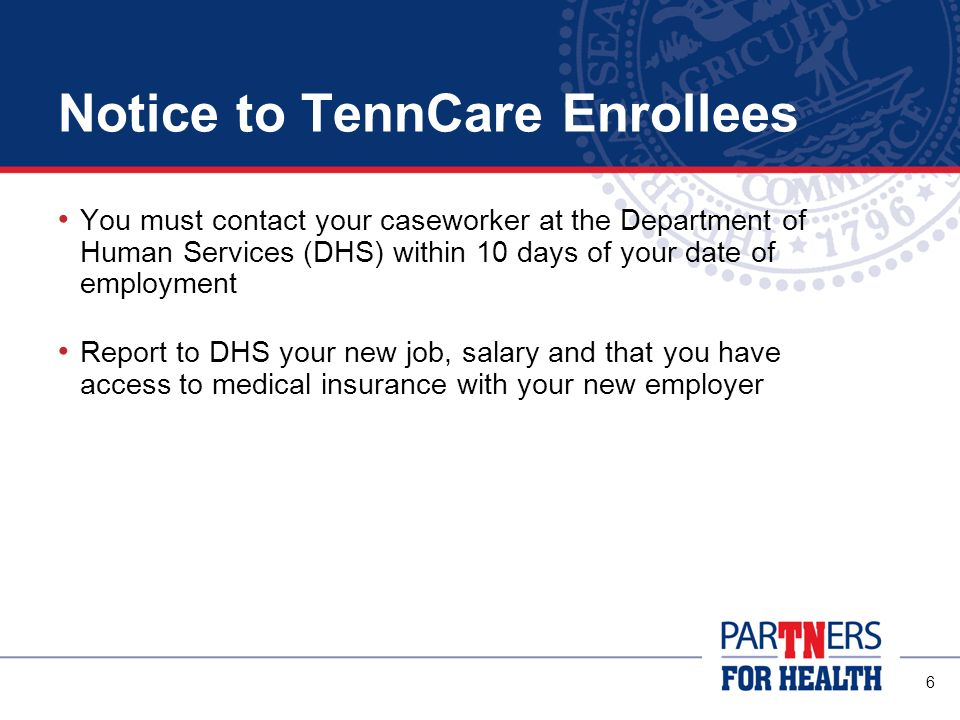 Notice to TennCare Enrollees
