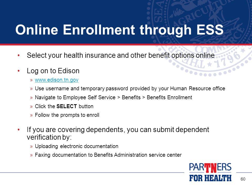 Online Enrollment through ESS