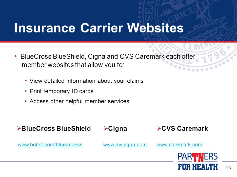 Insurance Carrier Websites