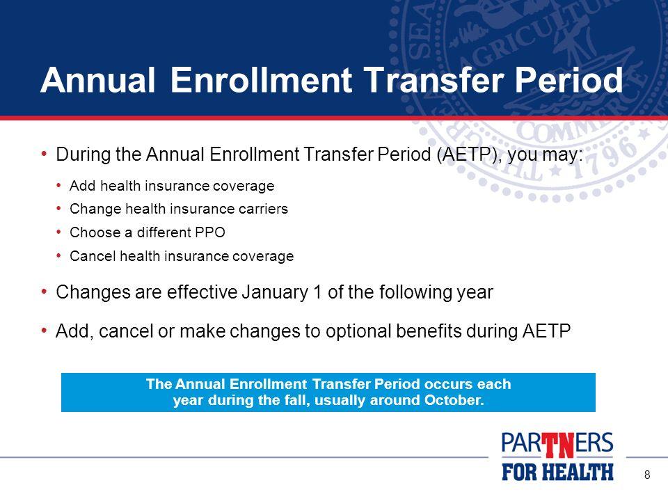 Annual Enrollment Transfer Period