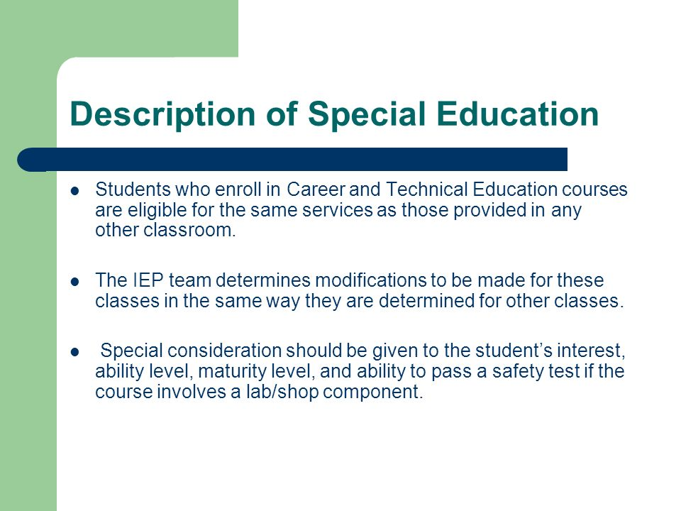 Description of Special Education