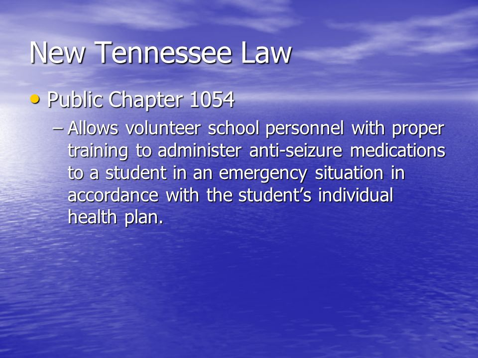 New Tennessee Law Public Chapter 1054