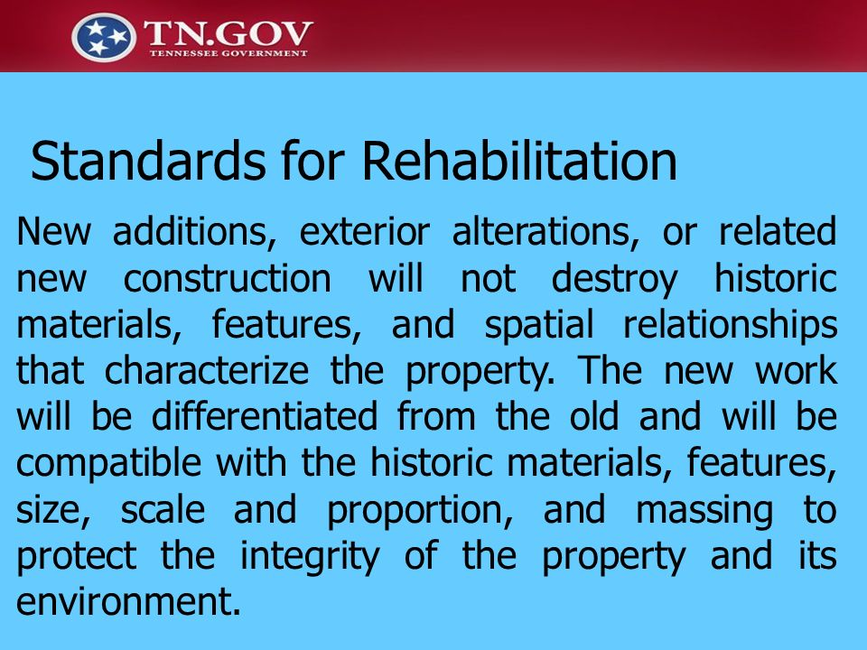 Standards for Rehabilitation