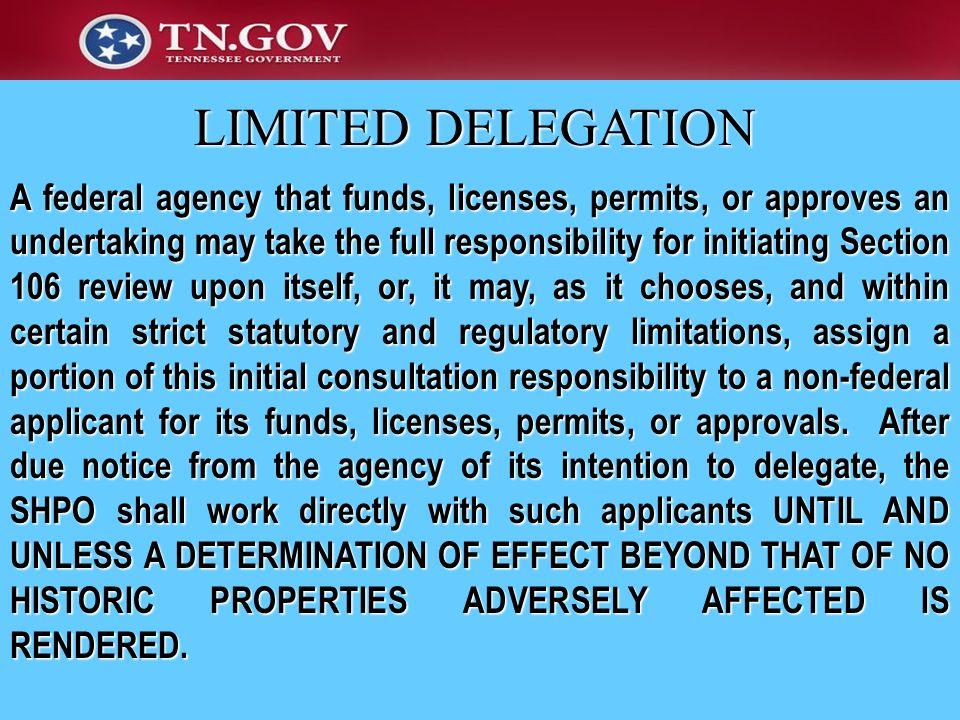LIMITED DELEGATION