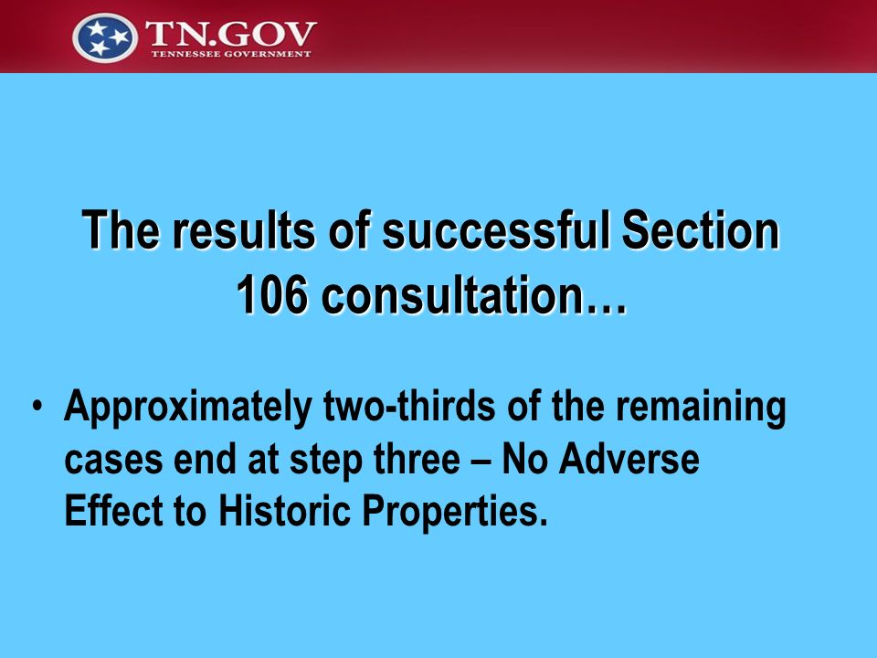 The results of successful Section 106 consultation…