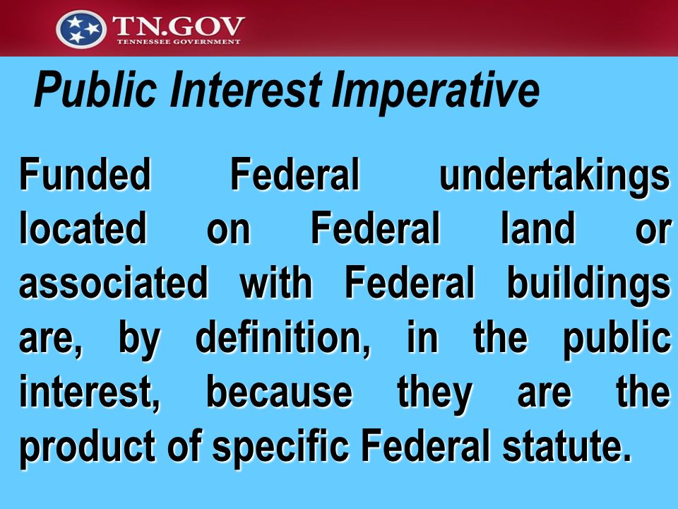 Public Interest Imperative