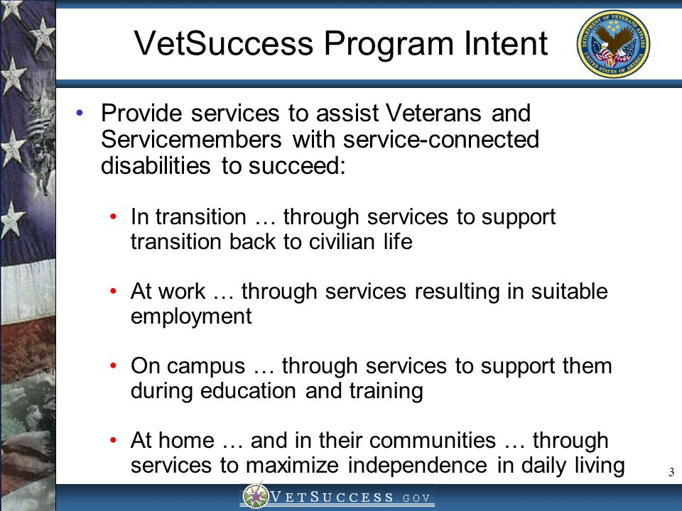 VetSuccess Program Intent