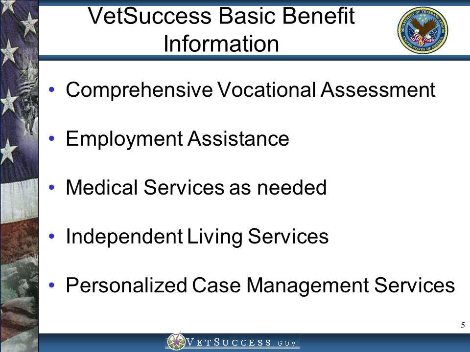 VetSuccess Basic Benefit Information