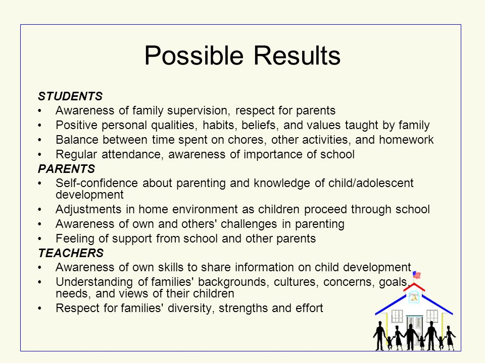 values taught by parents Values: taught or caught experiences of year 3  during term 1, 2002, students and parents were asked to respond to the open-ended question.