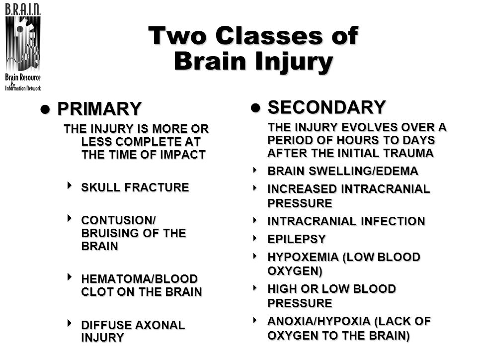 Two Classes of Brain Injury