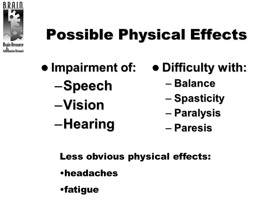 Possible Physical Effects