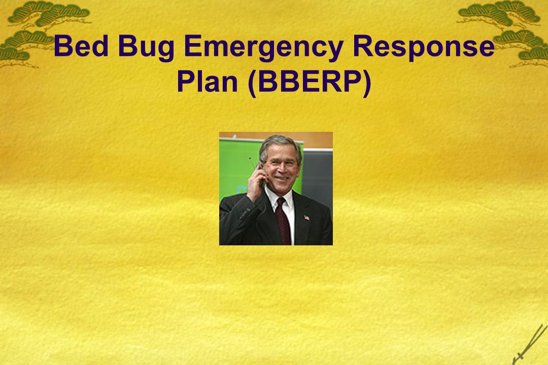 Bed Bug Emergency Response Plan (BBERP)