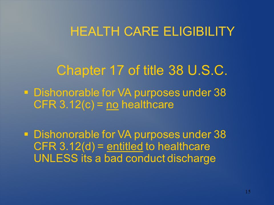 HEALTH CARE ELIGIBILITY